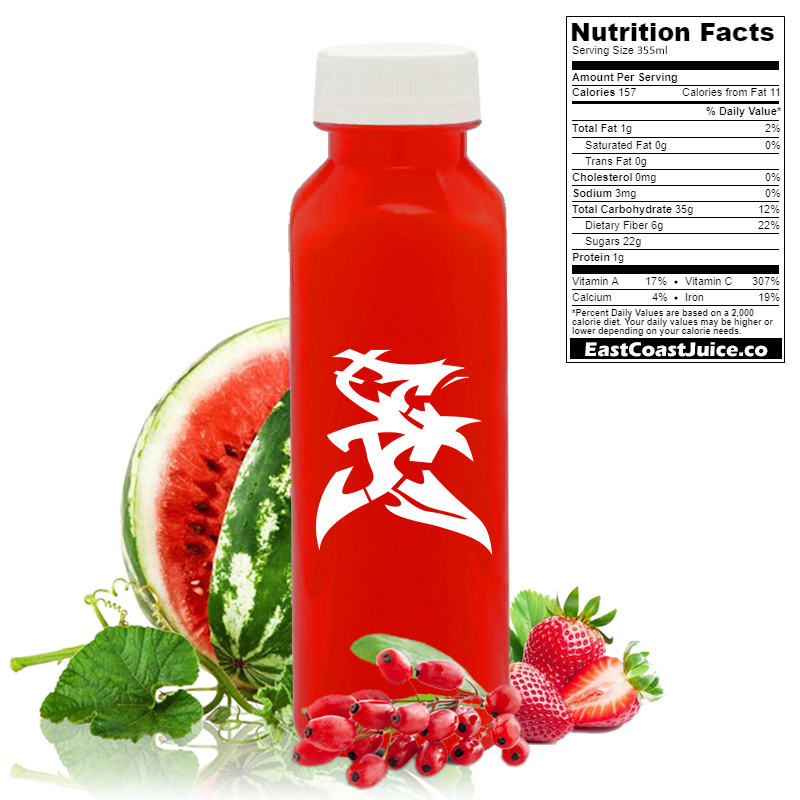 Cold pressed juice berrymelon barberry, berberries, strawberry, watermelon, berberine, ampk