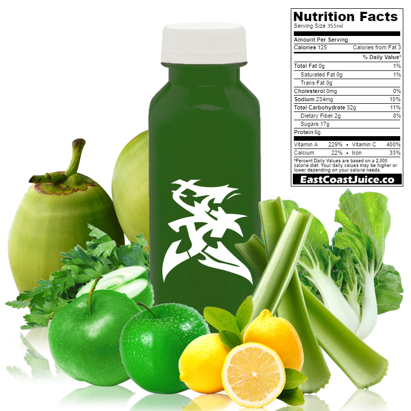 cold pressed Juice, Hardy Viking, bok choy, celery, lemon, coconut water, parsley, brassica rapa, CYP1A2