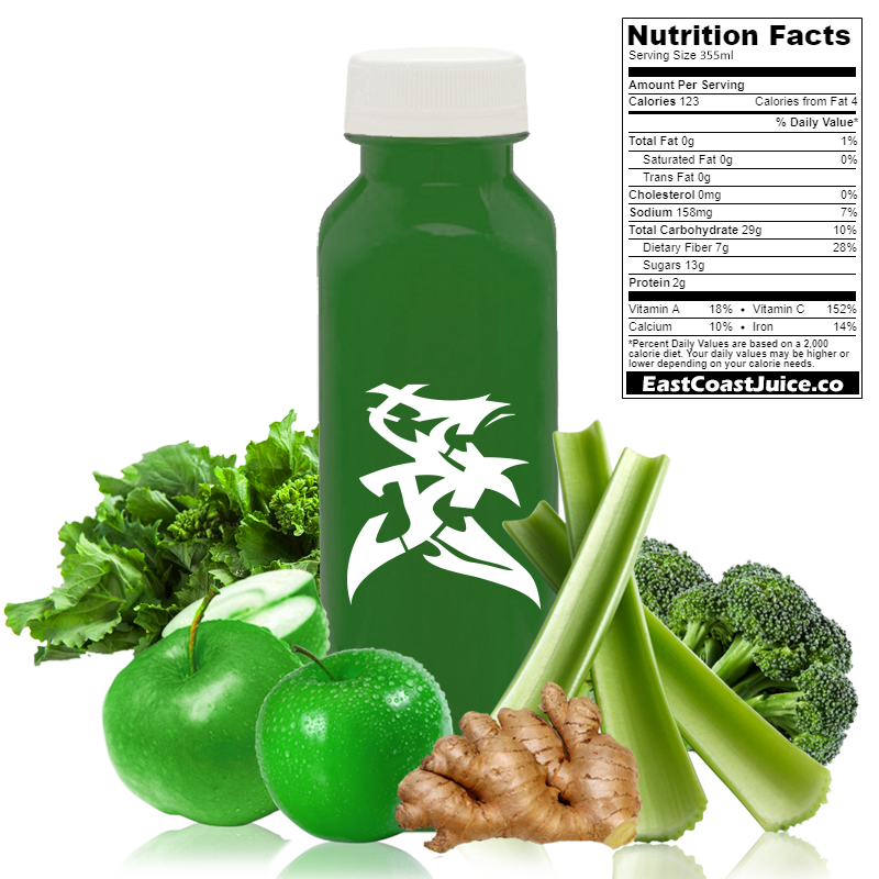 cold pressed Juice, Rabe Cure, broccoli, rapini, celery, ginger, apple, brassica rapa, CYP1A2