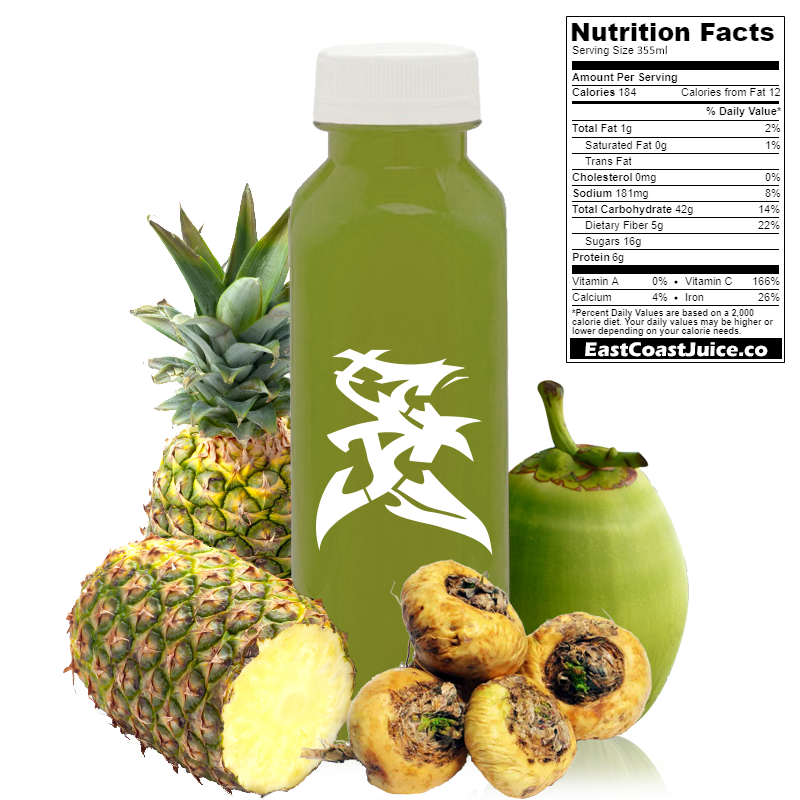 cold pressed Juice, This Way To Maca, pineapple, maca root, coconut water, Lepidium Meyenii, CYP1A2
